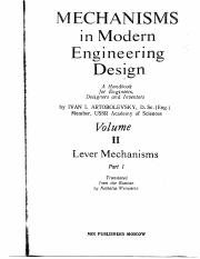 Artobolevsky - Mechanisms in modern engineering design Vol 2-1.pdf