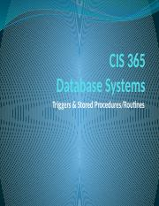 CIS 365 Triggers and Stored Procedures-Routines(1).pptx