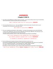 Chapter 5 HW #1 Answers.xls