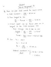 Tutorial Assignment 9 Solutions