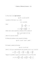 Differential Geometry Problem Set 11
