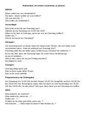 Geburtstag planen gemeinsam etwas b1 Zertifikat Goethe