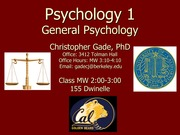 Class 21 - Mood Disorders and Schizophrenia