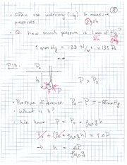 Physics 11 Pressure Difference Class Notes