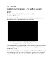 hunger - biofuels - global warming Telegraph 4-15-08