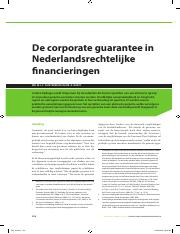 Corporate Guarantee Literature