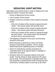 DEDUCING JOINT MOTION