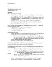 MICRO BIO Microbial Growth Study Guide 2