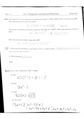 Math 111 2.4 Composite and Inverse Functions Notes