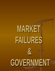 Topic 6 - Government intervention in the markets