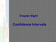 Ch 8 Confidence Interval