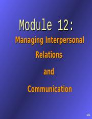 the role of communication and interpersonal