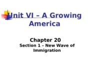 New Wave of Immigrants.ppt