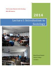 Lecture I Introduction to Sociology.pdf