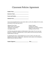 Course Policy Agreement
