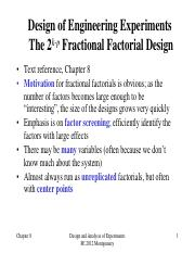 9-two level fractional factorial design.pdf