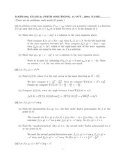 MATH 082 Fall 2004 Midterm 2 Version 1 Solutions