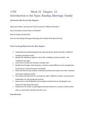 17SP Cpt 13 Introduction to the Topic Kinship, Marriage, Family.docx