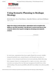 MIT - Using Scenario Planning to Reshape Strategy.pdf