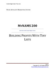 BUILDING PROFITS WITH TINY lists
