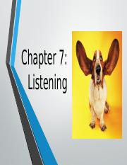 Chapter 7-Listening