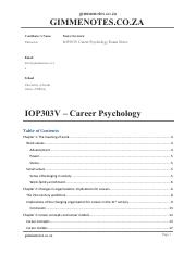 IOP303V-Career-Psychology-Exam-Notes