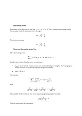Lecture Material Alternating Series