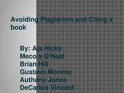 Avoiding Plagiarism and Citing a book