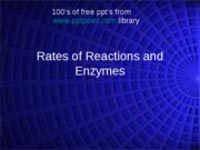 rates of reactionsOpt