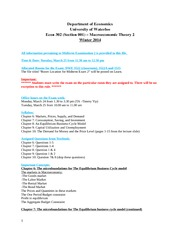 Syllabus, Procedure & Sample Questionnaire for Exam 2