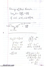 Notes on Change of Base Formula and Exponential Growth and Decay