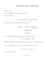 Math 115 Using Definition Problems