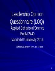LOQ and Leadership Decision Making