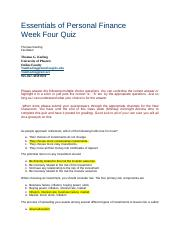 Week Four Quiz Essentials of Personal Finance V7.docx