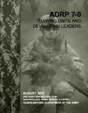 ADRP 7-0 TRAINING UNITS AND DEVELOPING LEADERS
