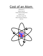 Cost of an Atom