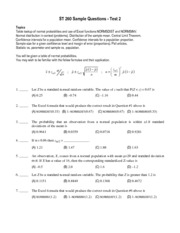 T2 Sample Questions & Soln