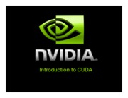 06a Introduction to CUDA (NVIDIA)