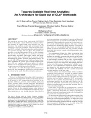An Architecture for Scale-out of OLxP Workloads