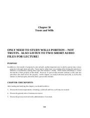 Study Guide Ch 50 MODIFIED for only Wills portion.docx
