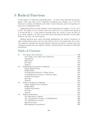 Chapter 9: Radical Functions