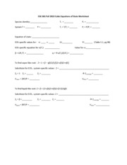 ChE 381 Cubic Equations of State Worksheet blank