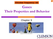 Ch. 9 Gases Their Properties and Behavior