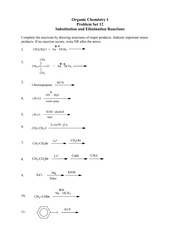 Problem Set #12 Substitution and Elimination II