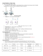 GenChem2- Lecture Topic 1 - Gases Notes