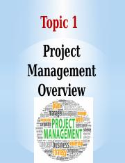 Topic1 PM Overview