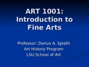 ART 1001 - Lecture 14B.ppt