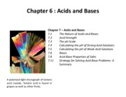 Ch 6 - Acids and Bases
