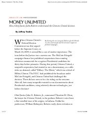 Toobin. Money Unlimited - The New Yorker