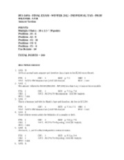 BUS 168A - FINAL EXAM SOLUTIONS - WINTER 2012